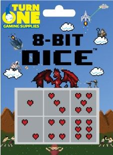 Turn One Gaming - Turn One Gaming Dice 8-Bit Hearts