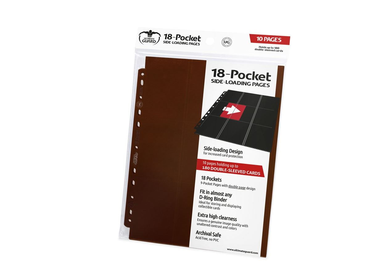 Ultimate Guard - Ultimate Guard Supreme Pages 18 Pocket Side Loading Brown 10-Count