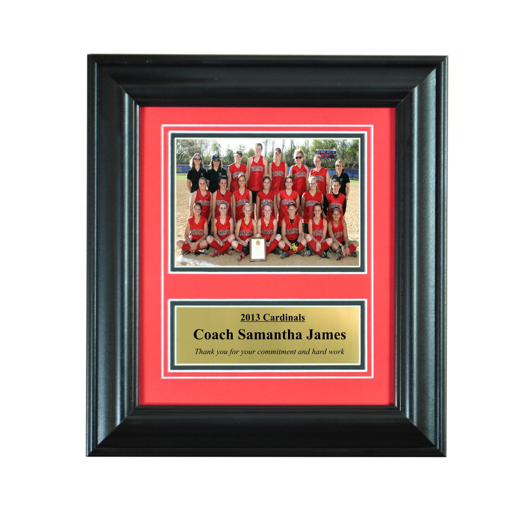 Wall Mounted Picture Frame for 5x7 and Engraving Plate for Individual Award