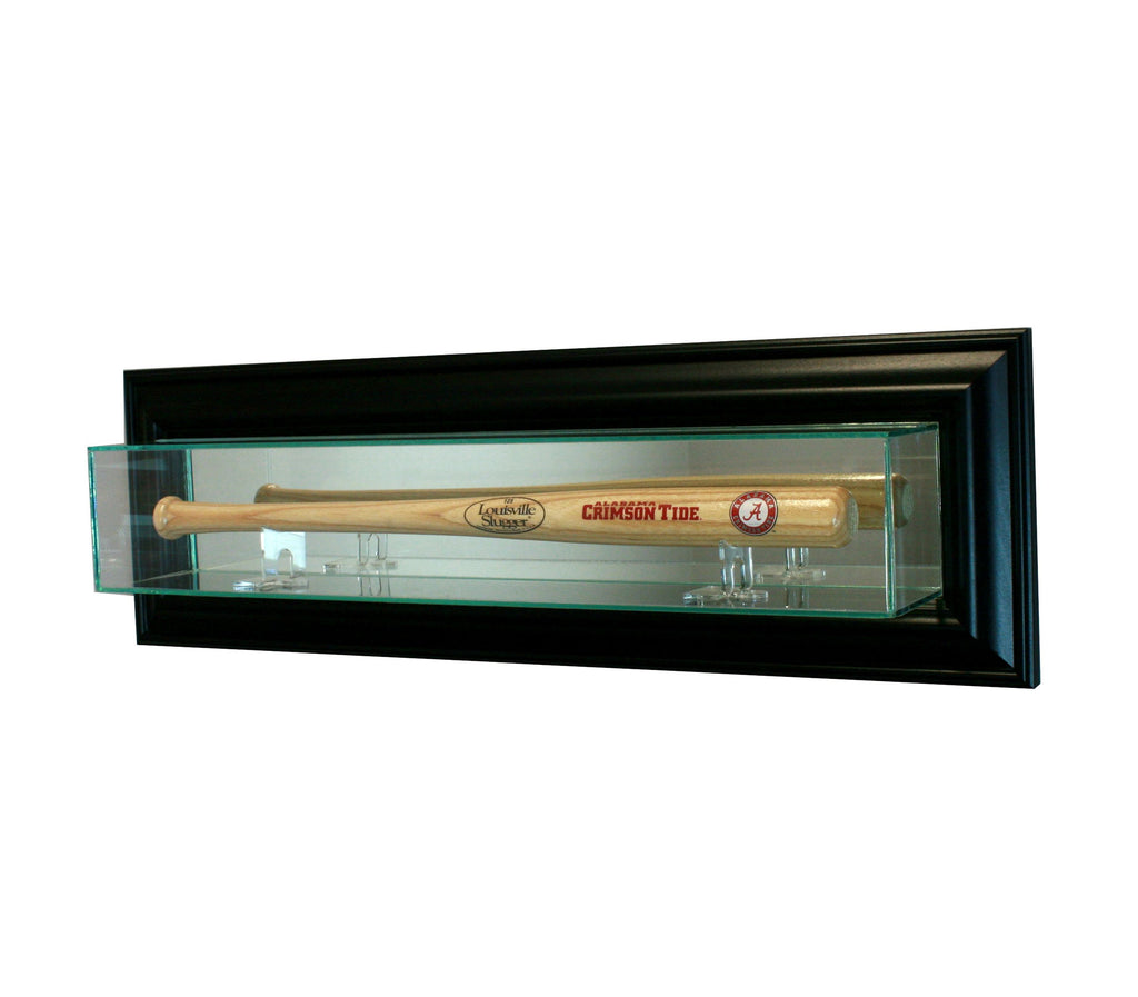 Wall Mounted Mini Bat Display Case with Black Moulding