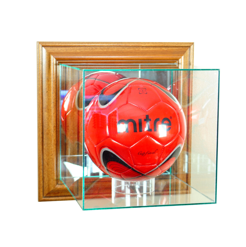Wall Mounted Volleyball Case with Walnut Moulding