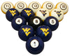 West Virginia Billiard Ball Set - NUMBERED