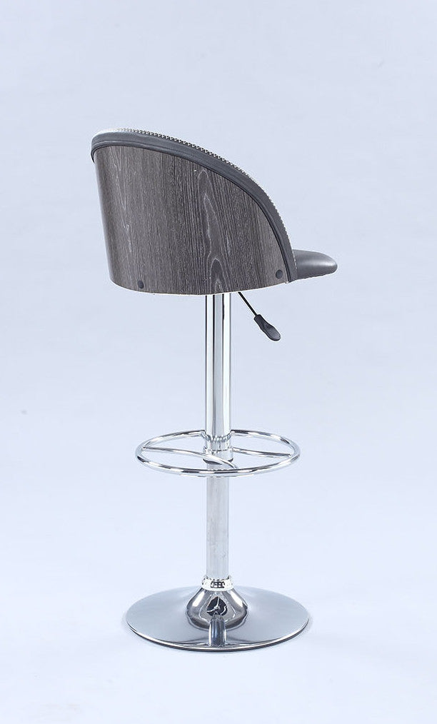 Chintaly - 1313 Series Pneumatic Rounded Back Adjustable Stool Chrome