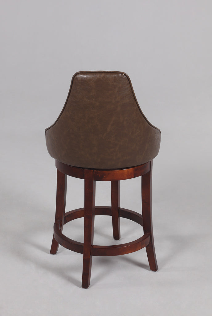 Chintaly - 0290 Series 26'' Swivel Solid Birch Counter Stool Wenge