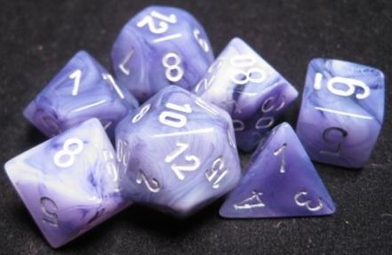 Chessex - Chessex: Phantom Black/Silver 7-Die Set