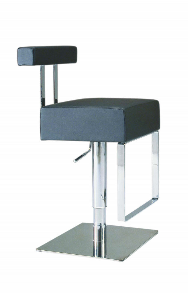 Chintaly - 0812 Series Pneumatic Gas Lift Adjustable Height Swivel Stool Brushed Stainless Steel