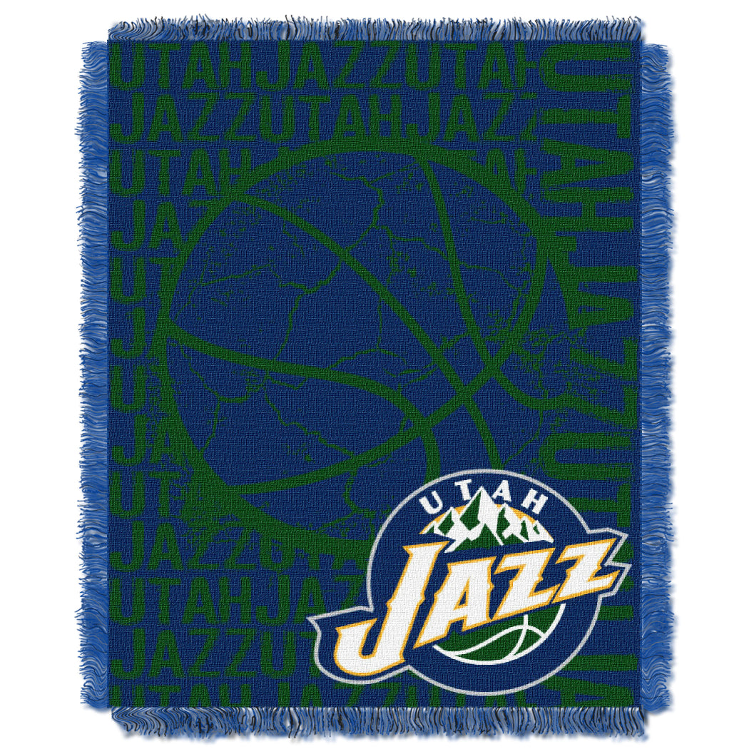 Northwest - DOUBLE PLAY - JAZZ OFFICIAL NBA Double Play Woven Jacquard Throw Blanket