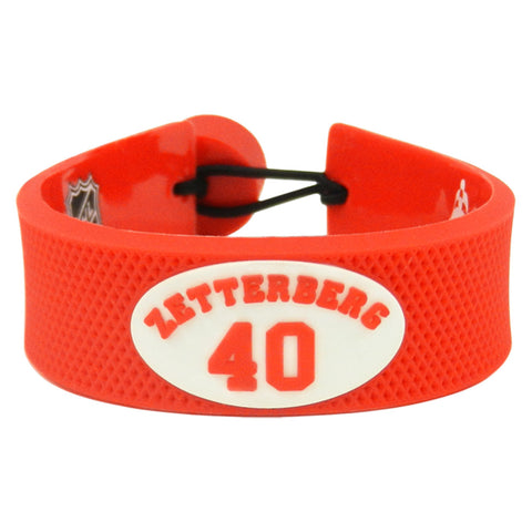 Detroit Red Wings Bracelet Team Color Jersey Henrik Zetterberg Design - Gamewear
