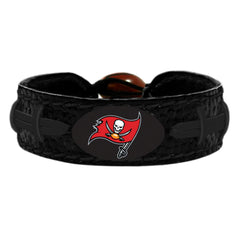 Tampa Bay Buccaneers Bracelet Team Color Tonal Black Football - Gamewear