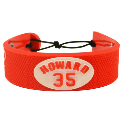 Detroit Red Wings Bracelet Team Color Jersey Jimmy Howard Design - Gamewear