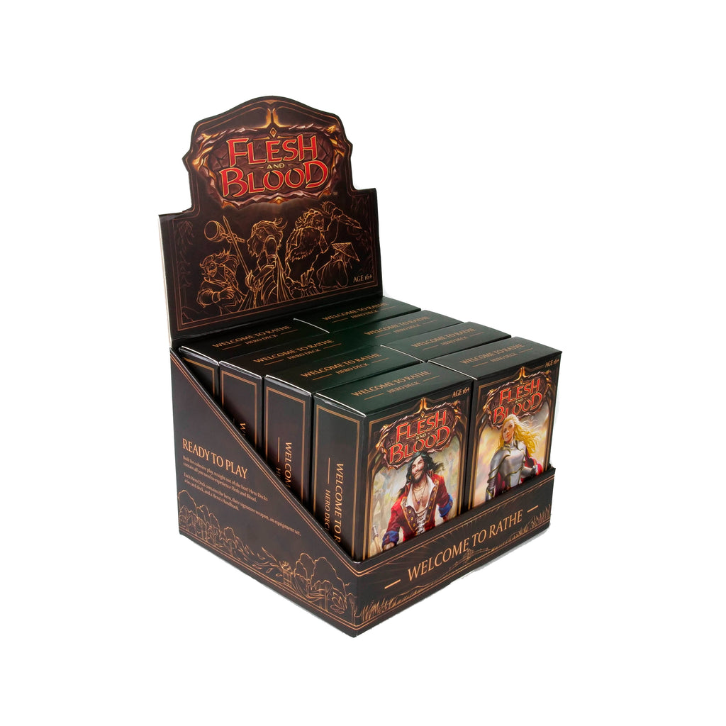 Legend Story Studios - Flesh And Blood Tcg: Welcome To Rathe Hero Decks Display