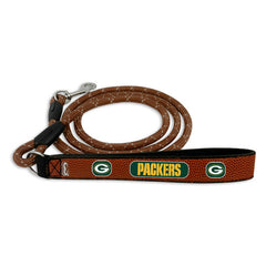 Green Bay Packers Pet Leash Leather Frozen Rope Football Size Medium - Gamewear