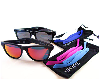 The Combo - WORK, PLAY and Ocean Blues - Unisex Interchangeable Wayfarer Sunglasses