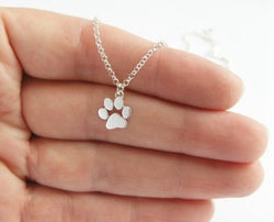 Paw Print Animal Pendant Necklace