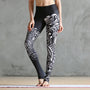 Black Phoenix Print Yoga Pants
