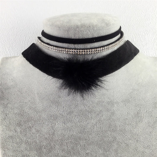 Vintage Velvet Choker Necklaces