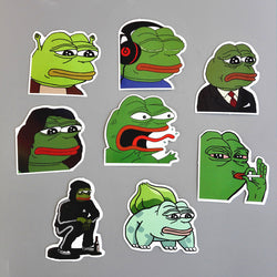 8 Piece Pepe Sad Frog Stickers