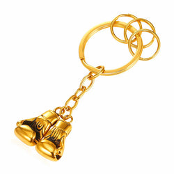 Golden Boxing Glove Key Chain