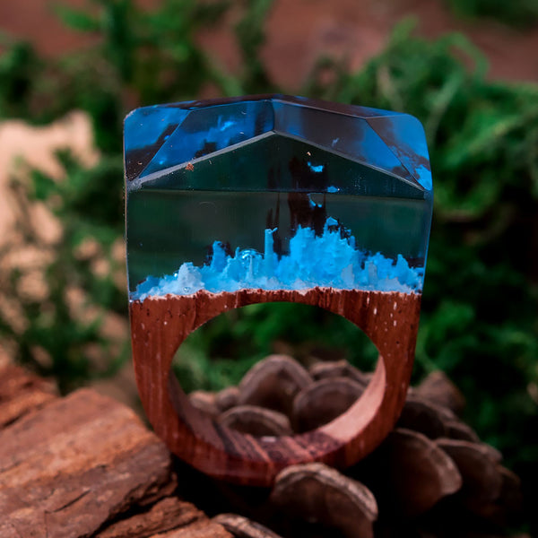 Blue Fantasy Resin Ring