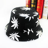 Leaf Print Bucket Hats