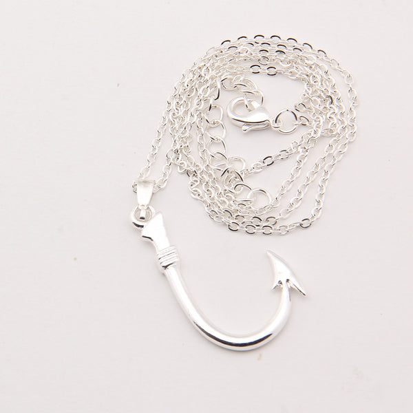 Fish Hook Pendant Necklace