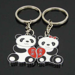 Panda Couple Key Ring