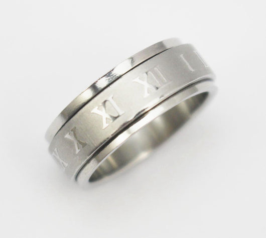 Roman Numerals Spin Rings