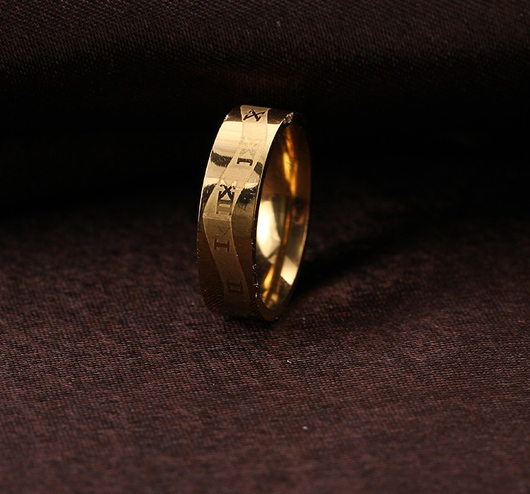 18k Gold Plated Roman Alphabet Ring