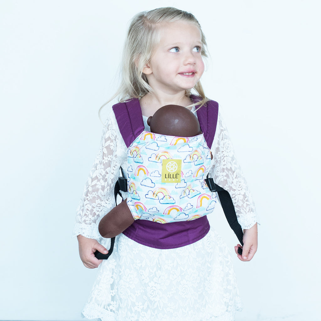 LÍLLÉbaby Doll Carrier - Rainbows and Smiles