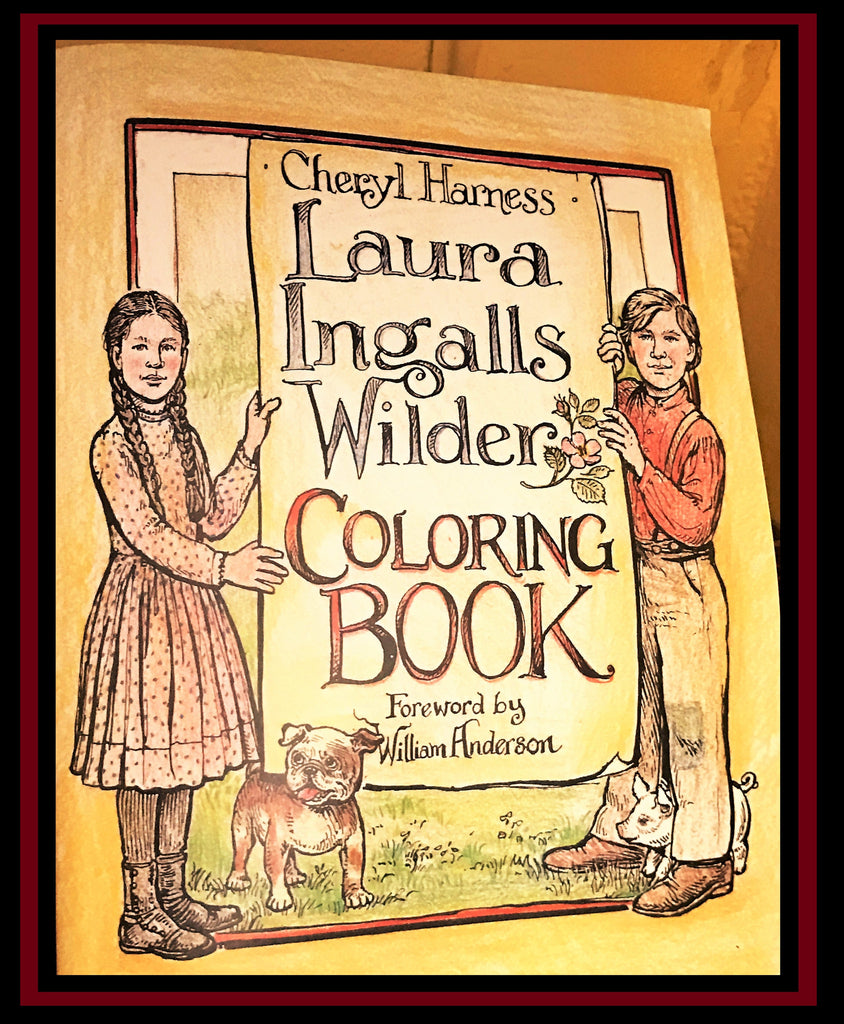 Laura Ingalls Wilder Coloring Book Little House on the Prairie Museum