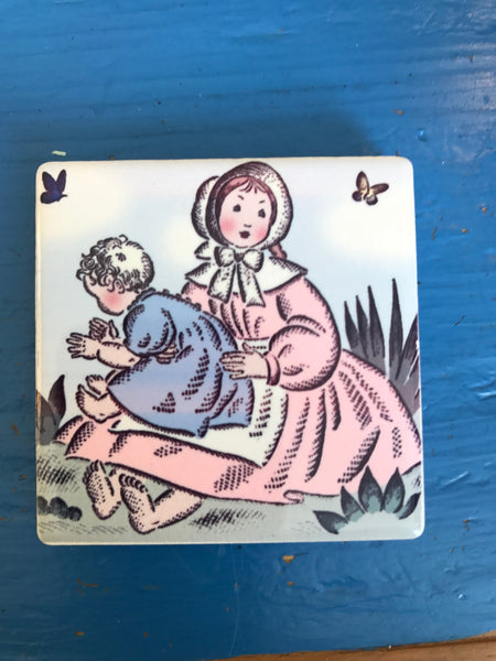 A Collection of Magnets Depicting 1st Edition Little House Illustrations by Helen Sewell