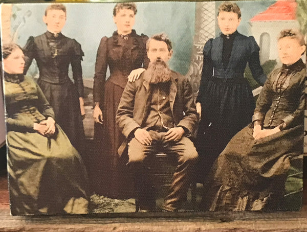 Canvas framed colored photo of the Ingalls Family