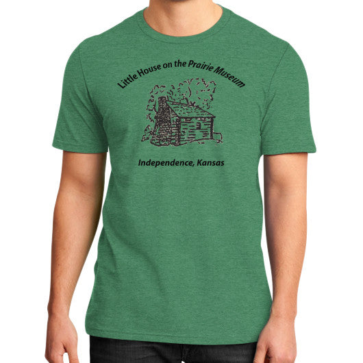 District T-Shirt (on man) Heather green Little House on the Prairie Museum