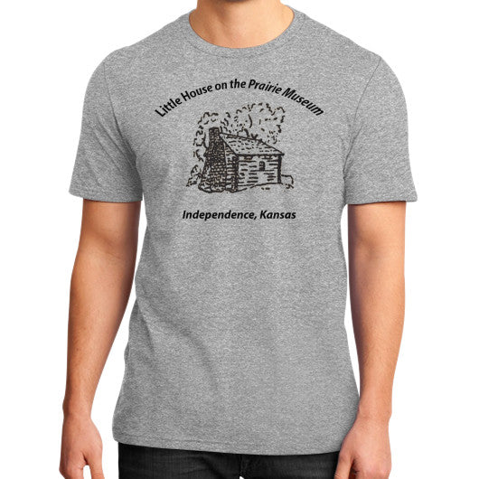 District T-Shirt (on man) Heather grey Little House on the Prairie Museum