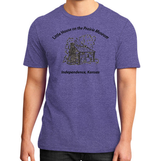 District T-Shirt (on man) Heather purple Little House on the Prairie Museum