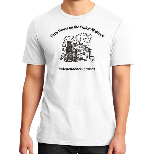 District T-Shirt (on man) White Little House on the Prairie Museum