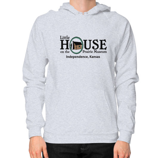 Hoodie (on man) Heather grey Little House on the Prairie Museum