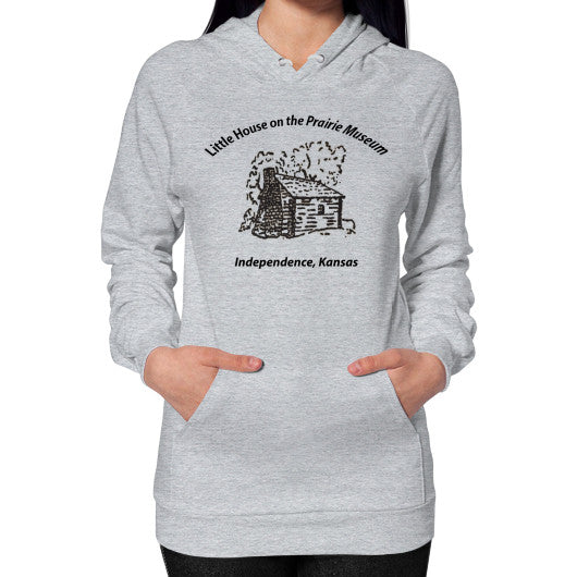 Hoodie (on woman) Heather grey Little House on the Prairie Museum