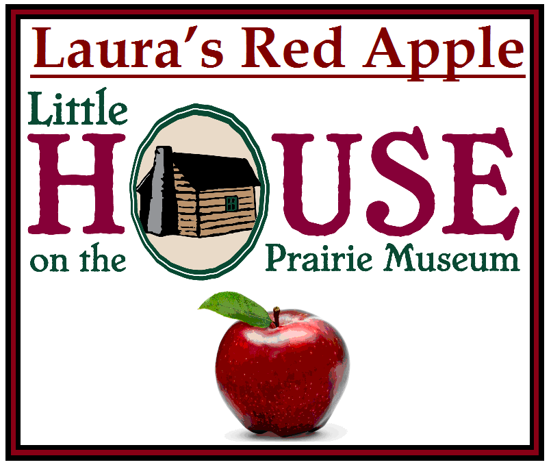 Laura's Red Apple Candle by Little House on the Prairie Museum