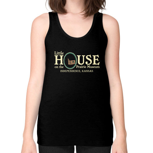 Unisex Fine Jersey Tank (on woman) Black Little House on the Prairie Museum