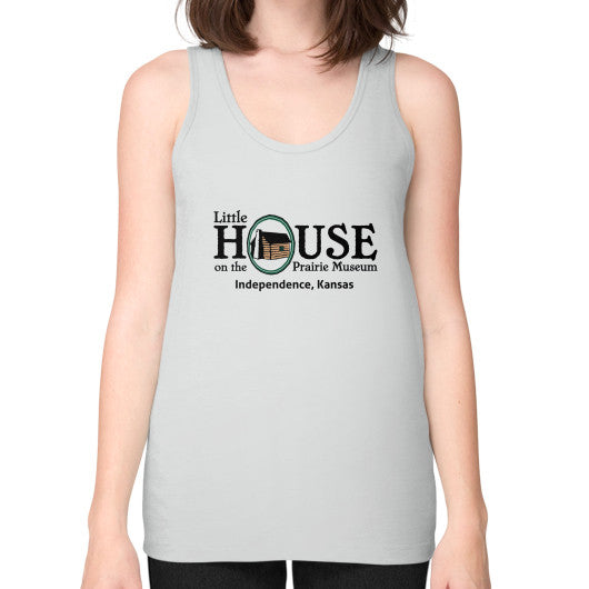 Unisex Fine Jersey Tank (on woman) Silver Little House on the Prairie Museum