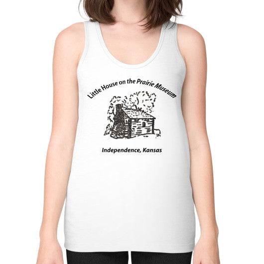 Unisex Fine Jersey Tank (on woman) White Little House on the Prairie Museum