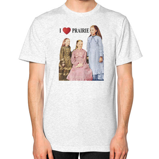 Unisex T-Shirt (on man) Ash grey Little House on the Prairie Museum