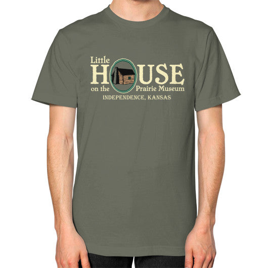 Unisex T-Shirt (on man) Lieutenant Little House on the Prairie Museum