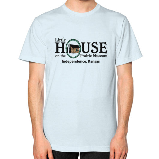 Unisex T-Shirt (on man) Light blue Little House on the Prairie Museum