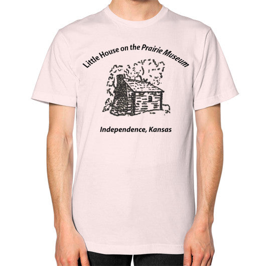 Unisex T-Shirt (on man) Light pink Little House on the Prairie Museum