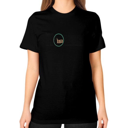 Unisex T-Shirt (on woman) Black Little House on the Prairie Museum