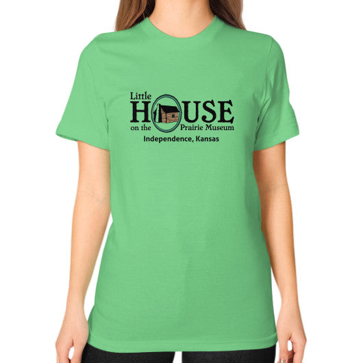 Unisex T-Shirt (on woman) Grass Little House on the Prairie Museum