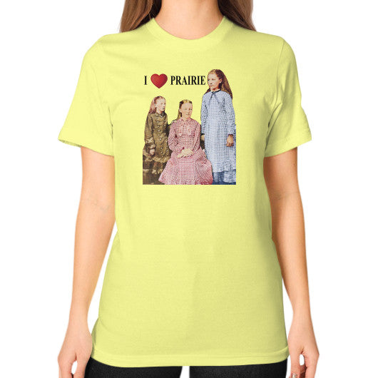 Unisex T-Shirt (on woman) Lemon Little House on the Prairie Museum