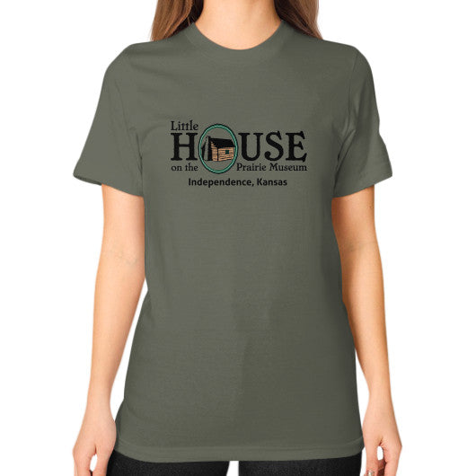 Unisex T-Shirt (on woman) Lieutenant Little House on the Prairie Museum